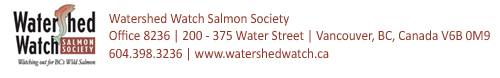Watershed Watch logo and contact info