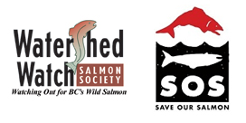 Logos for Watershed Watch and SOS