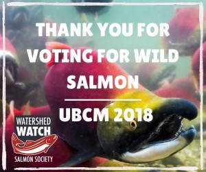 UBCM - Thanks for voting for wild salmon!