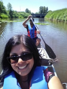 Preet Pall and son_Katzie canoe tour_May 2018_credit Preet Pall