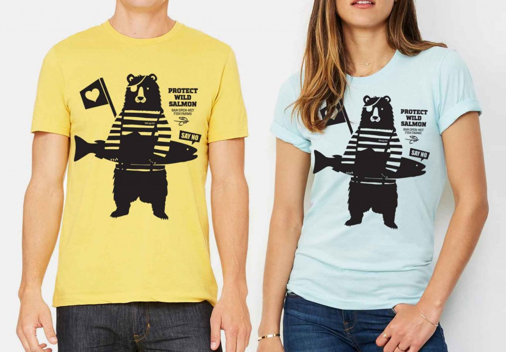 100% of the profits of from these shirts are donated to Watershed Watch Salmon Society.